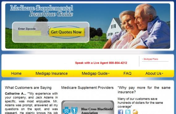 medicare supplemental insurance guide screenshot 1