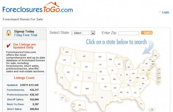 foreclosuretogo website screenshot 1