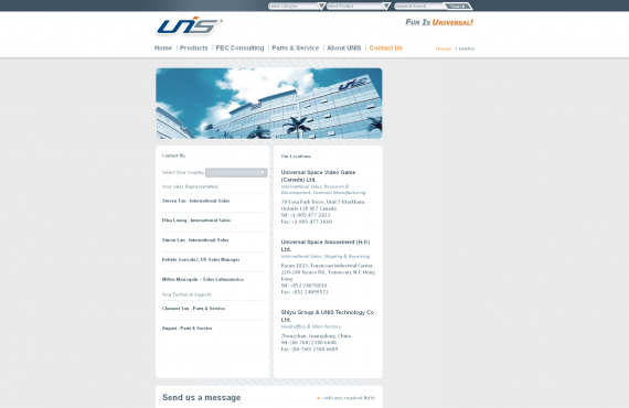 unis games website graphic design screenshot 1