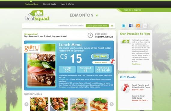dealsquad design screenshot 2