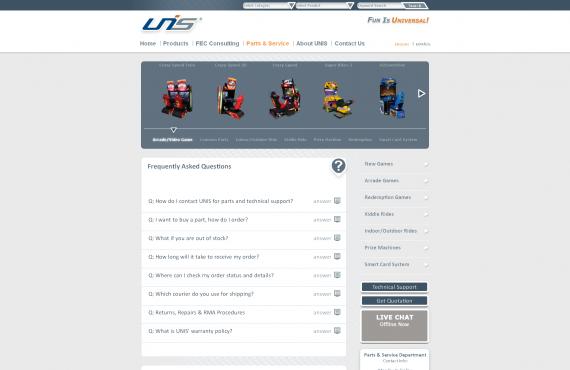 unis games website graphic design screenshot 5