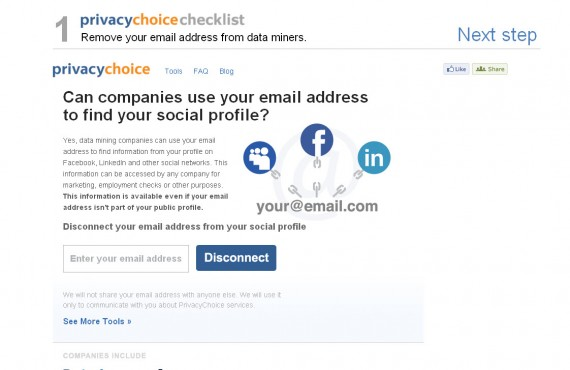 privacy choice screenshot 1