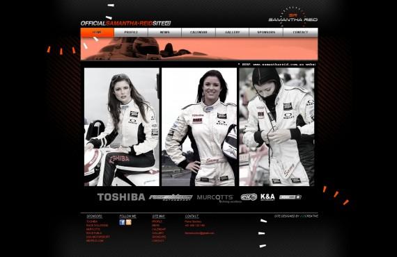 samantha reid's website screenshot 1