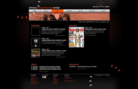samantha reid's website screenshot 2