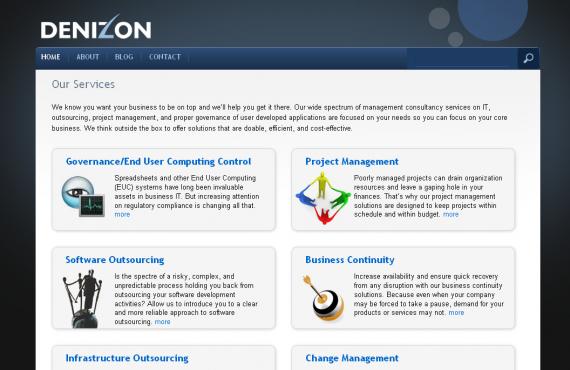 denizon transfer of the website from drupal to wordpress involving merging of main website with wp blog screenshot 1