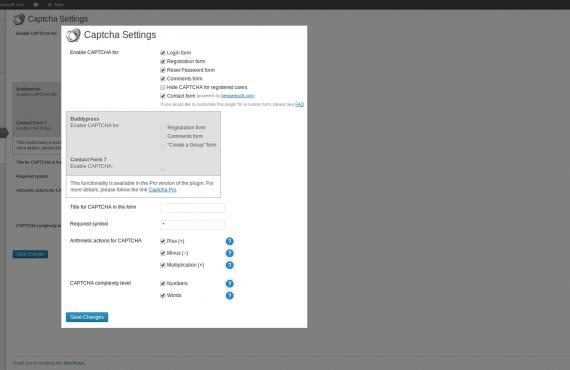 wordpress captcha plugin screenshot 1