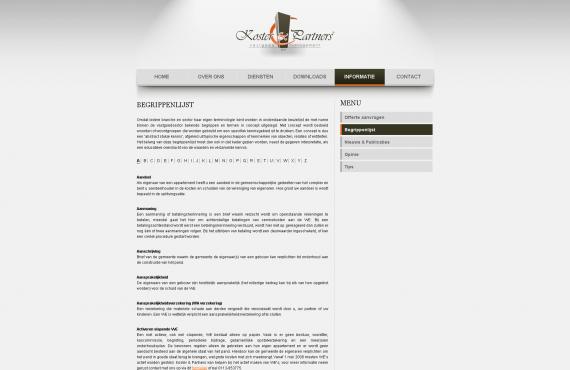 koster&partners site screenshot 2