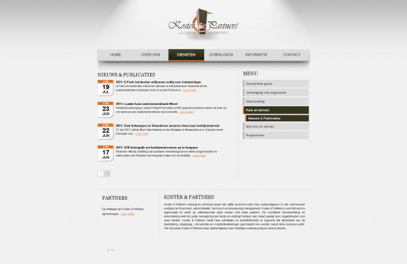 koster&partners site screenshot 4