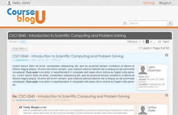 courseblogu website re-design screenshot 2