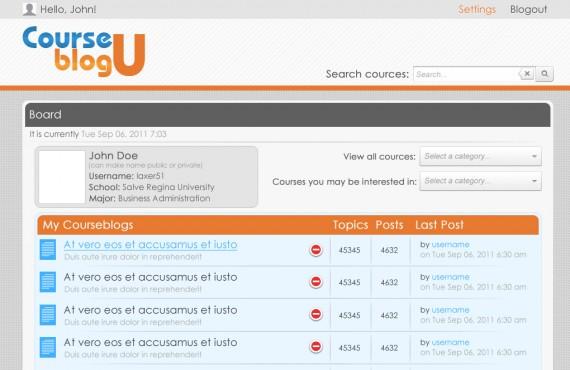 courseblogu website re-design screenshot 3