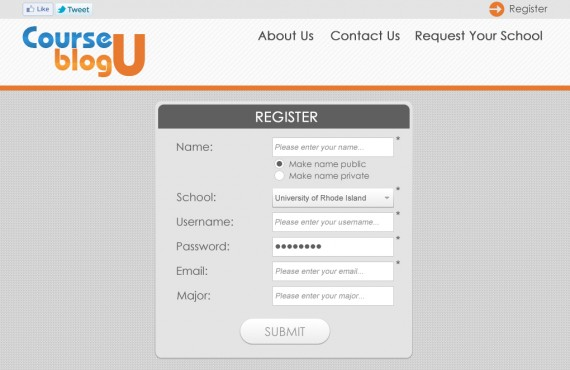 courseblogu website re-design screenshot 1
