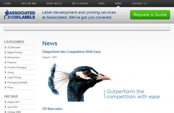 associated labels. psd to wordpress development screenshot 1