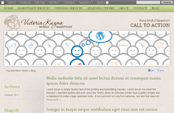 vancouver mobile hair stylist psd to wordpress project screenshot 5