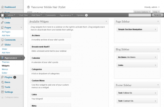 vancouver mobile hair stylist psd to wordpress project screenshot 6