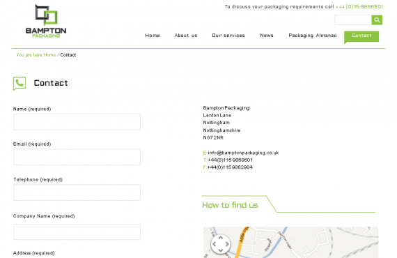 bamptonpackaging project. psd to wordpress development screenshot 5