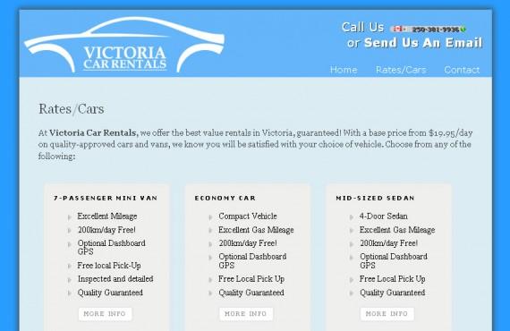 victoria car rentals. wordpress theme customization screenshot 2