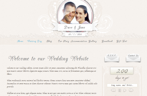 personal wedding website screenshot 16
