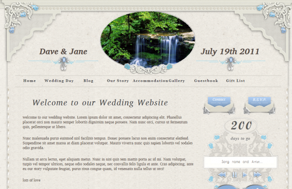 personal wedding website screenshot 9