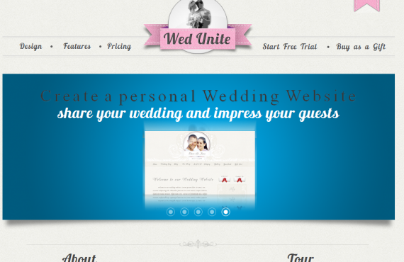personal wedding website screenshot 1