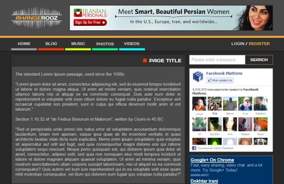 graphic design for ahangerooz website screenshot 4