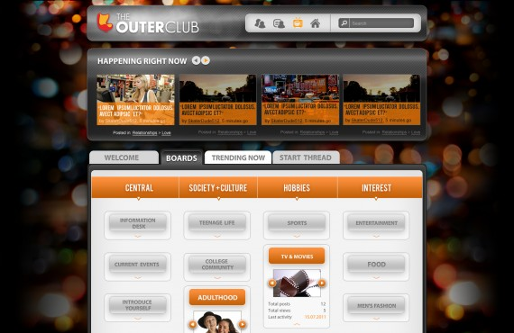 outerclub online community website graphic design screenshot 30