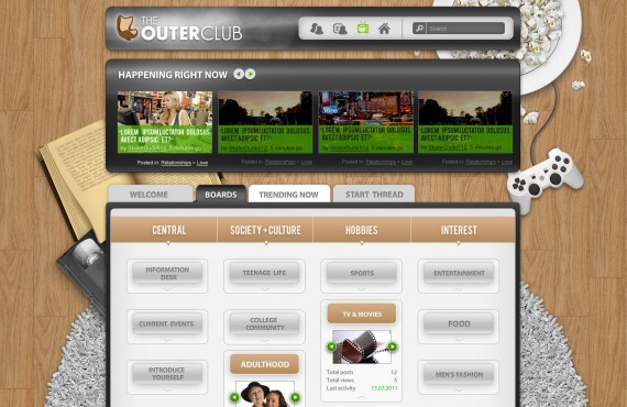 outerclub online community website graphic design screenshot 29