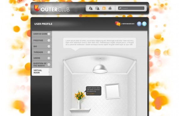 outerclub online community website graphic design screenshot 23