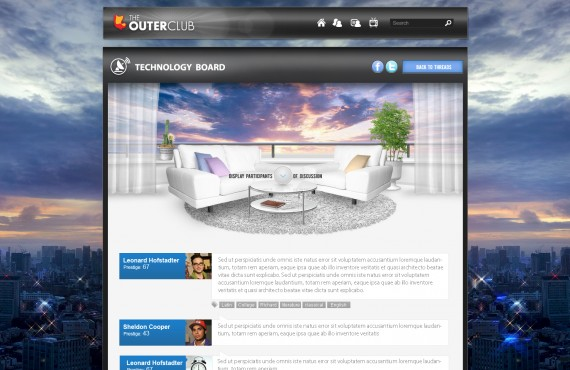 outerclub online community website graphic design screenshot 20