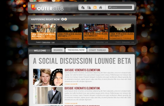 outerclub online community website graphic design screenshot 7
