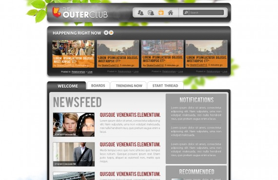 outerclub online community website graphic design screenshot 6