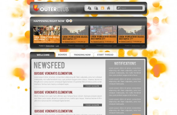 outerclub online community website graphic design screenshot 5