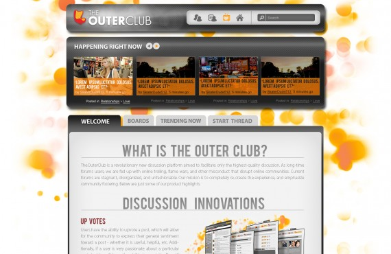 outerclub online community website graphic design screenshot 4