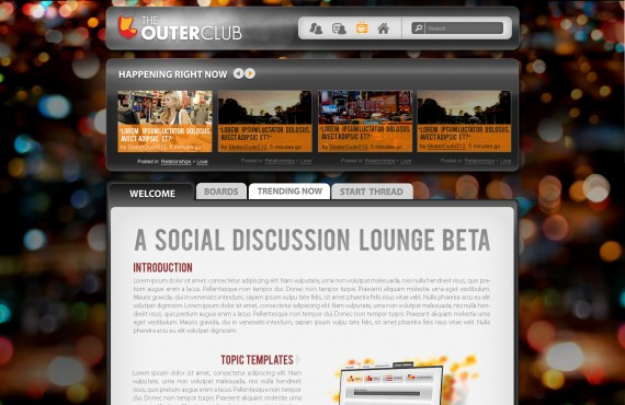 outerclub online community website graphic design screenshot 3
