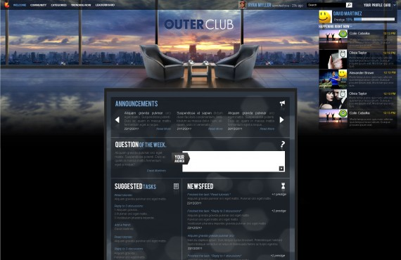 outerclub online community website graphic design screenshot 8