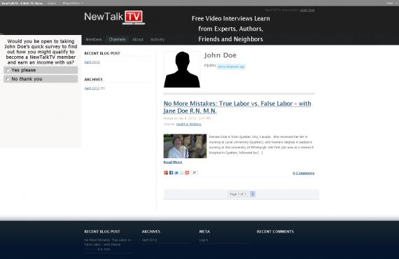 newtalktv wordpress multisite development screenshot 4