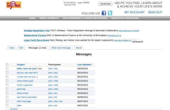 improvements for mytruework website built on drupal 6 screenshot 2