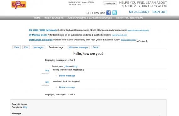improvements for mytruework website built on drupal 6 screenshot 3