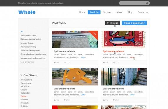 whale – creative psd template screenshot 2