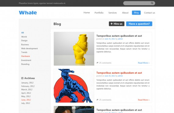 whale – creative psd template screenshot 6