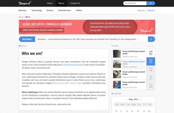 beyond – multi-purpose psd template screenshot 4