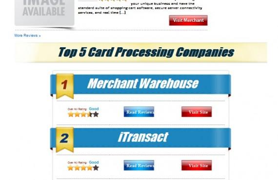 rate credit card processing wordpress customization project screenshot 2