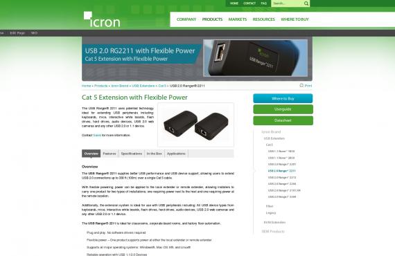 icron. psd / html to html wordpress development screenshot 1