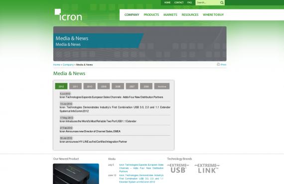 icron. psd / html to html wordpress development screenshot 2