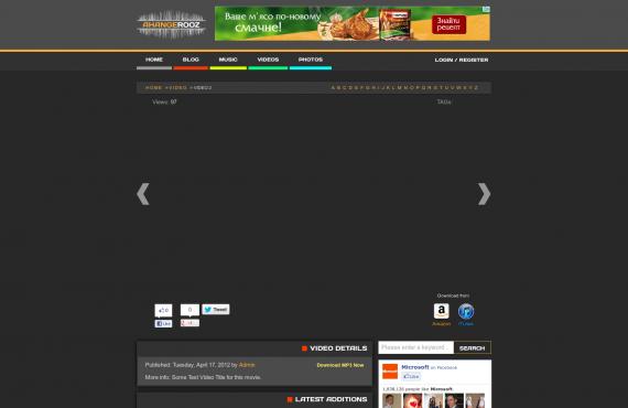 development of ahangerooz website screenshot 1