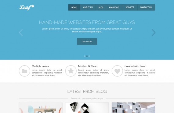 leaf – creative html template screenshot 1