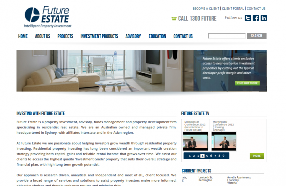 future estate project screenshot 1