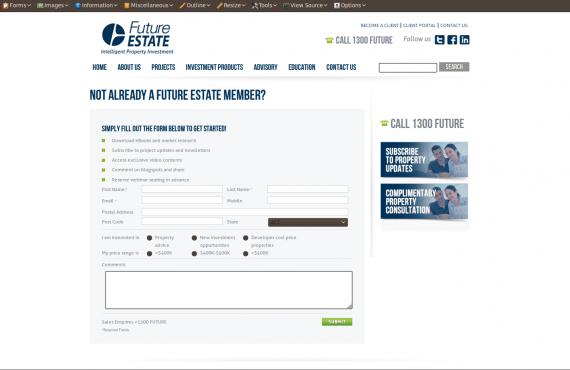 future estate project screenshot 2
