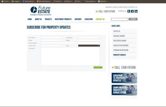 future estate project screenshot 3