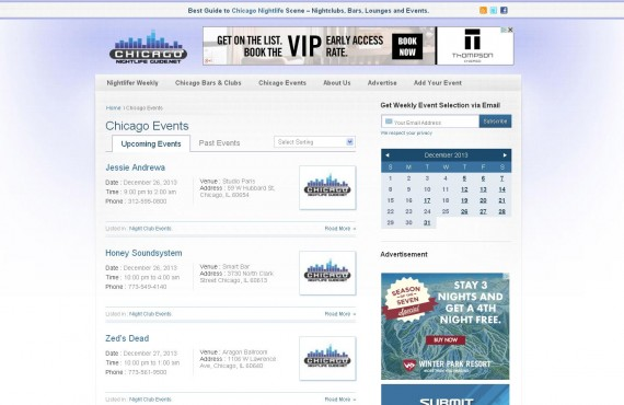 chicago nightlife guide project screenshot 2