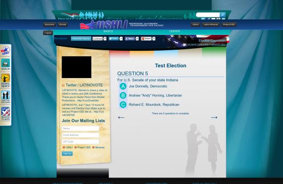 development of the custom wordpress plugin for a mock election screenshot 1